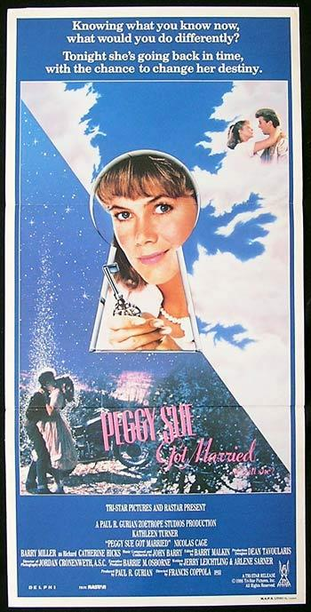 PEGGY SUE GOT MARRIED Original Daybill Movie Poster Kathleen Turner