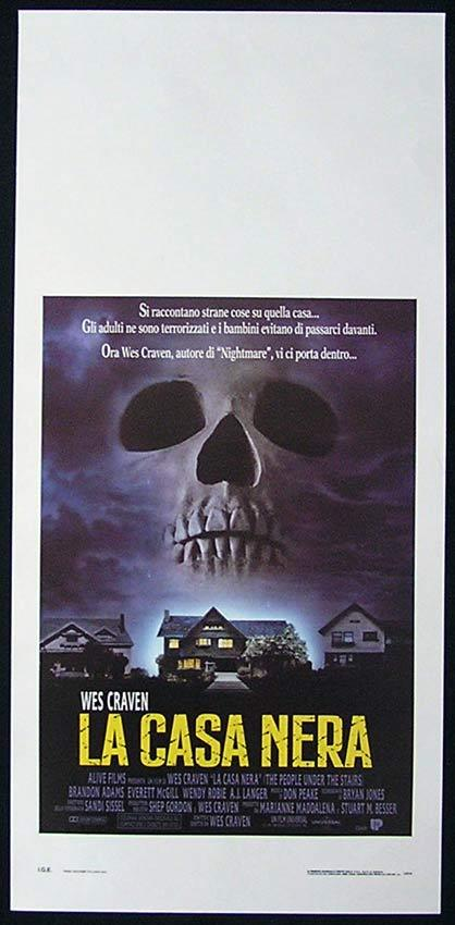 THE PEOPLE UNDER THE STAIRS Italian Locandina Movie Poster Wes Craven Horror