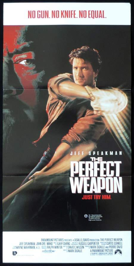 THE PERFECT WEAPON Original Daybill Movie Poster Jeff Speakman