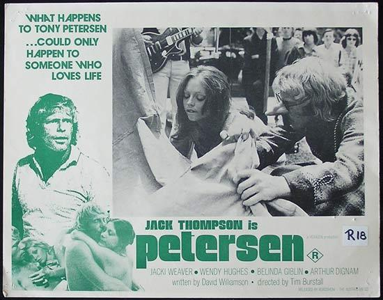 PETERSEN '74 Jack Thompson RARE Country of Origin Lobby card 4