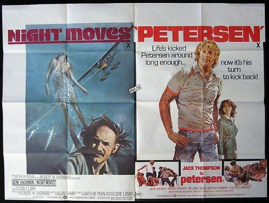 PETERSEN '74 plus NIGHTMOVES Jack Thompson RARE British Quad Movie Poster