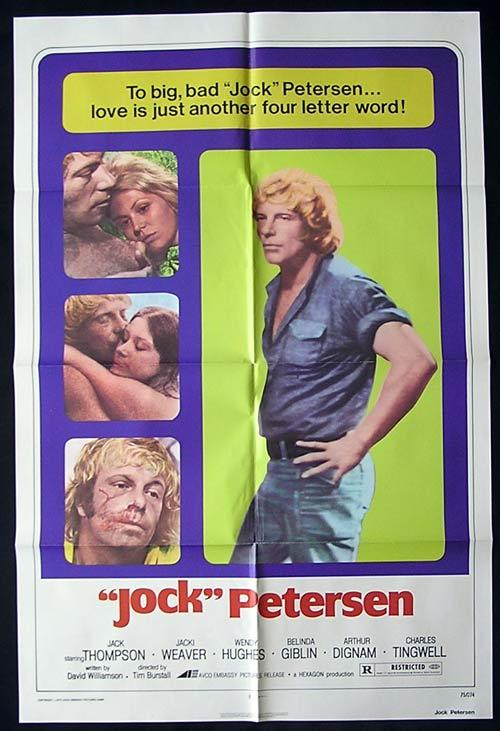 PETERSEN 1974 Jack Thompson RARE US ONE SHEET Movie Poster