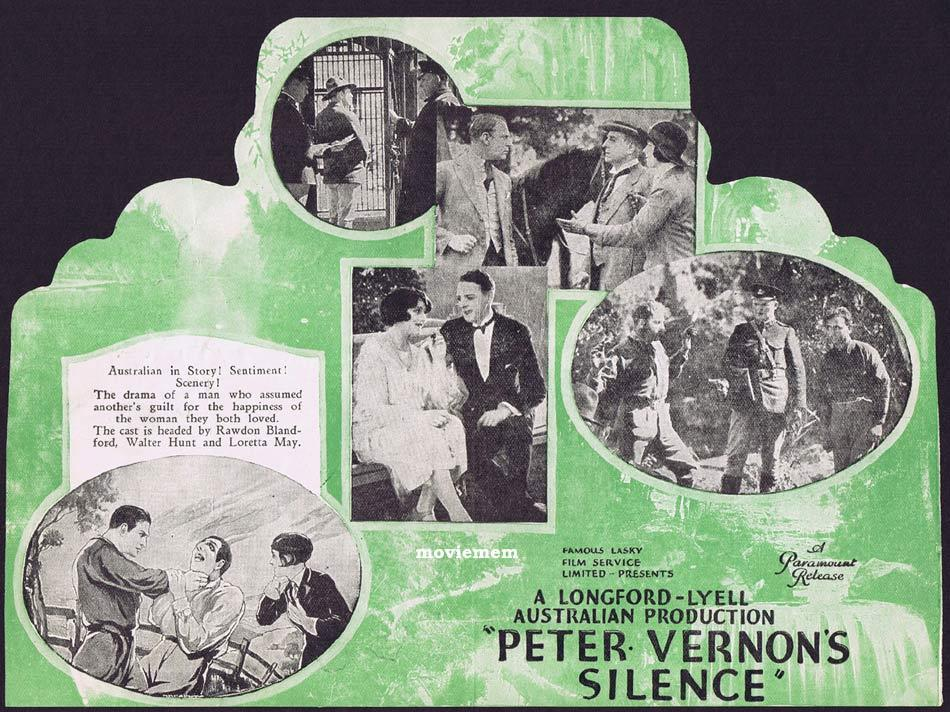 PETER VERNON'S SILENCE 1926 Raymond Longford Movie Herald Australian Cinema Classic