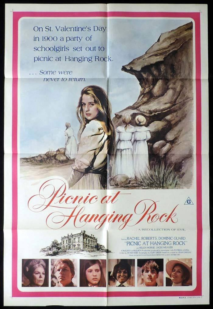 "PICNIC AT HANGING ROCK Australian ONE SHEET Movie Poster 1975 Country of Origin ""A"""