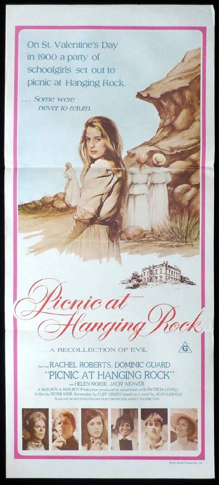 PICNIC AT HANGING ROCK Australian daybill Movie Poster 1975 Country of Origin Burton
