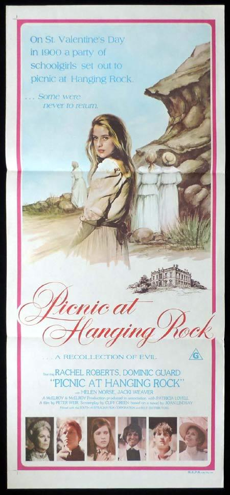 PICNIC AT HANGING ROCK Australian daybill Movie Poster 1975 Country of Origin MAPS