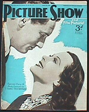 SPENCER TRACY-LAMAAR-Picture Show Magazine-1940 Magazine