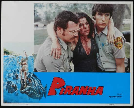 PIRANHA They're Here & They're Hungry US Lobby Card 11