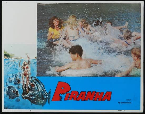 PIRANHA They're Here & They're Hungry US Lobby Card 4