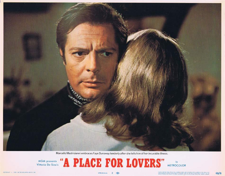 A PLACE FOR LOVERS Lobby Card 2 Marcello Mastroianni Faye Dunaway