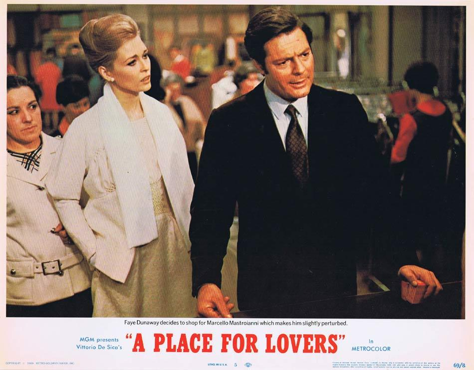 A PLACE FOR LOVERS Lobby Card 5 Marcello Mastroianni Faye Dunaway