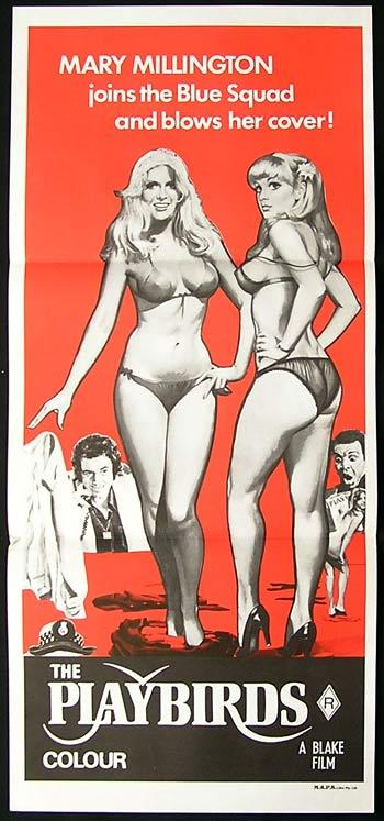 THE PLAYBIRDS Original Daybill Movie Poster Mary Millington