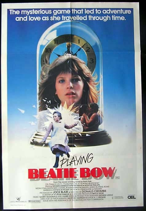 PLAYING BEATIE BOW '86 Phelps TIME TRAVEL One sheet Movie poster