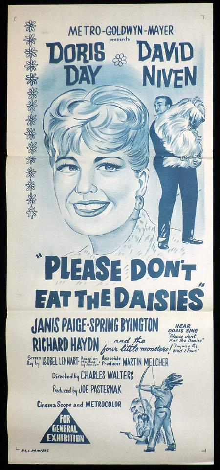 PLEASE DONT EAT THE DAISIES Original Daybill Movie Poster Doris Day David Niven