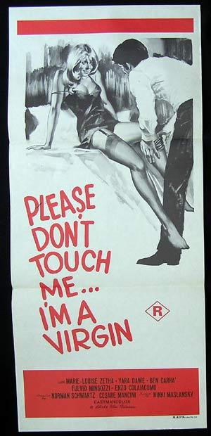 PLEASE DON'T TOUCH ME I'M A VIRGIN Sexploitation Movie Poster
