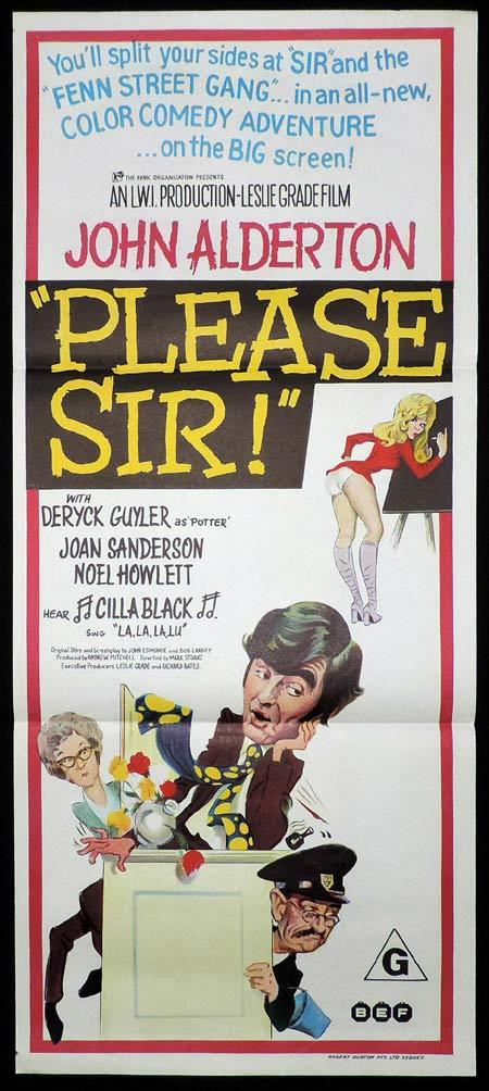 PLEASE SIR Original Daybill Movie Poster John Alderton British Comedy