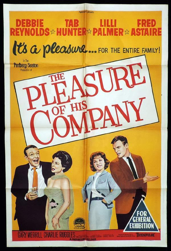 THE PLEASURE OF HIS COMPANY One Sheet Movie Poster Fred Astaire