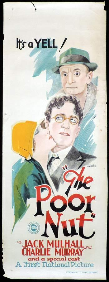 THE POOR NUT Long Daybill Movie poster 1927 Wynne W.Davies art