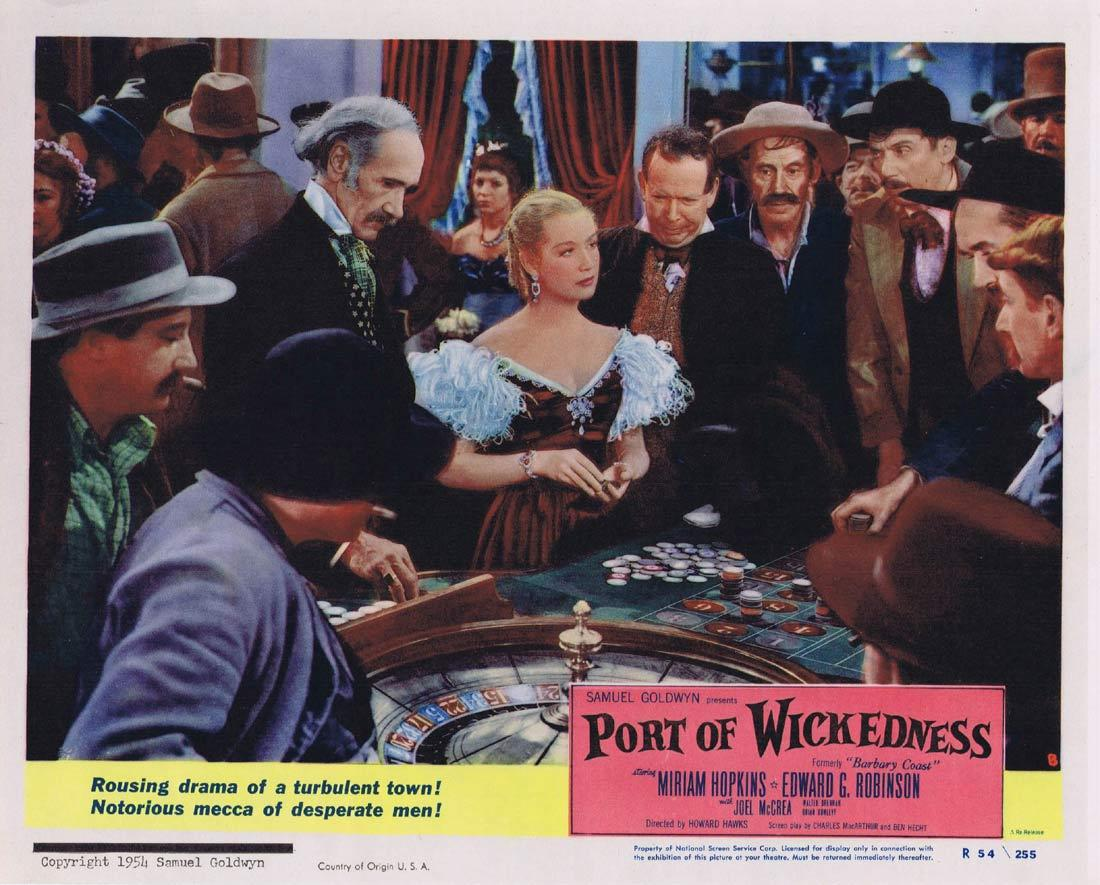 PORT OF WICKEDNESS Lobby Card 8 Miriam Hopkins Edward G. Robinson Joel McCrea 1954r