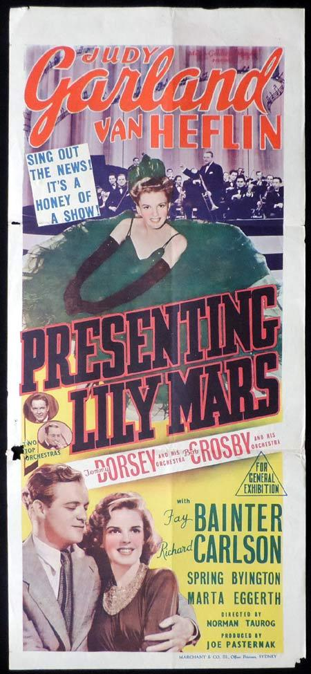 PRESENTING LILY MARS Original Daybill Movie Poster Judy Garland Marchant Graphics