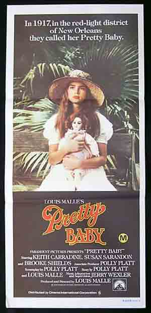 PRETTY BABY '78-Louis Malle-Brooke Shields RARE poster