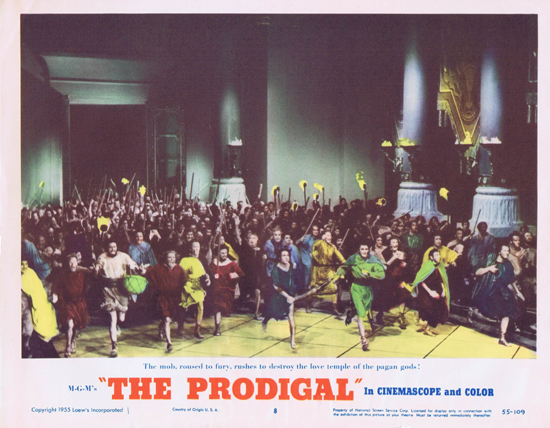THE PRODIGAL US Lobby Card 8 Lana Turner Edmond Purdom