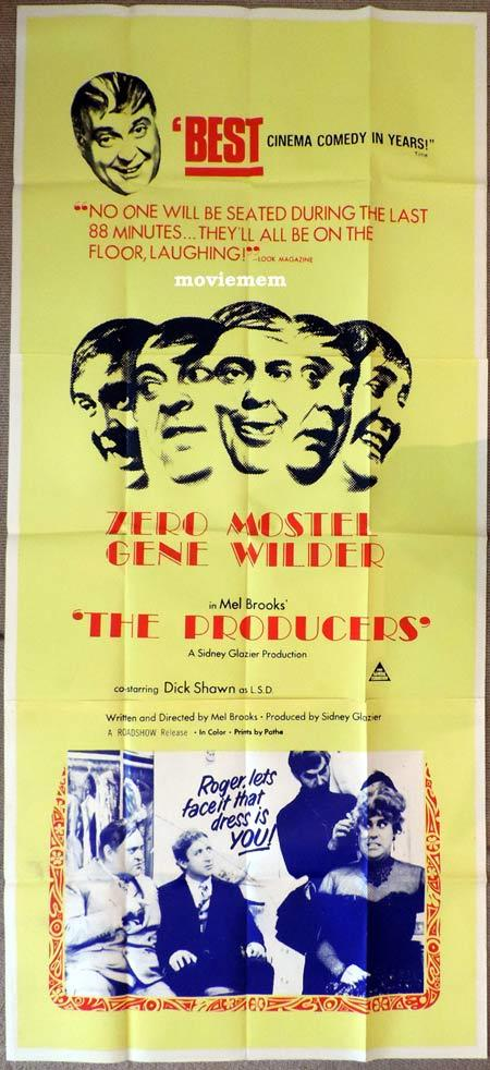THE PRODUCERS Original 3 Sheet Movie Poster Mel Brooks