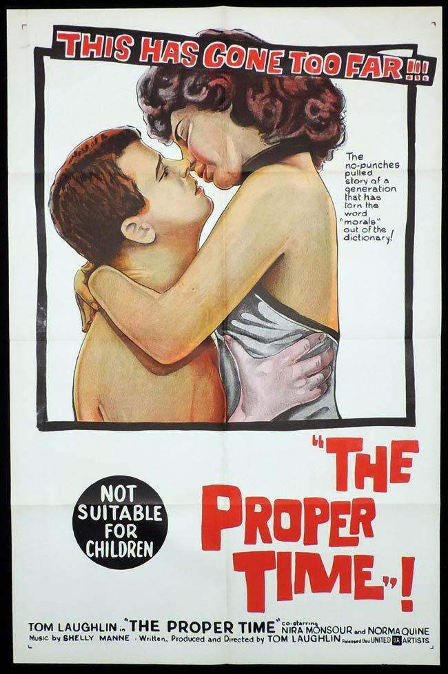 THE PROPER TIME One Sheet Movie Poster Tom Laughlin