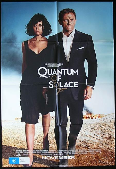 QUANTUM OF SOLACE 2008 James Bond Advance One sheet Movie Poster