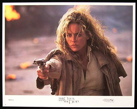 QUICK AND THE DEAD Lobby Card #7 Sharon Stone Gunslinger!
