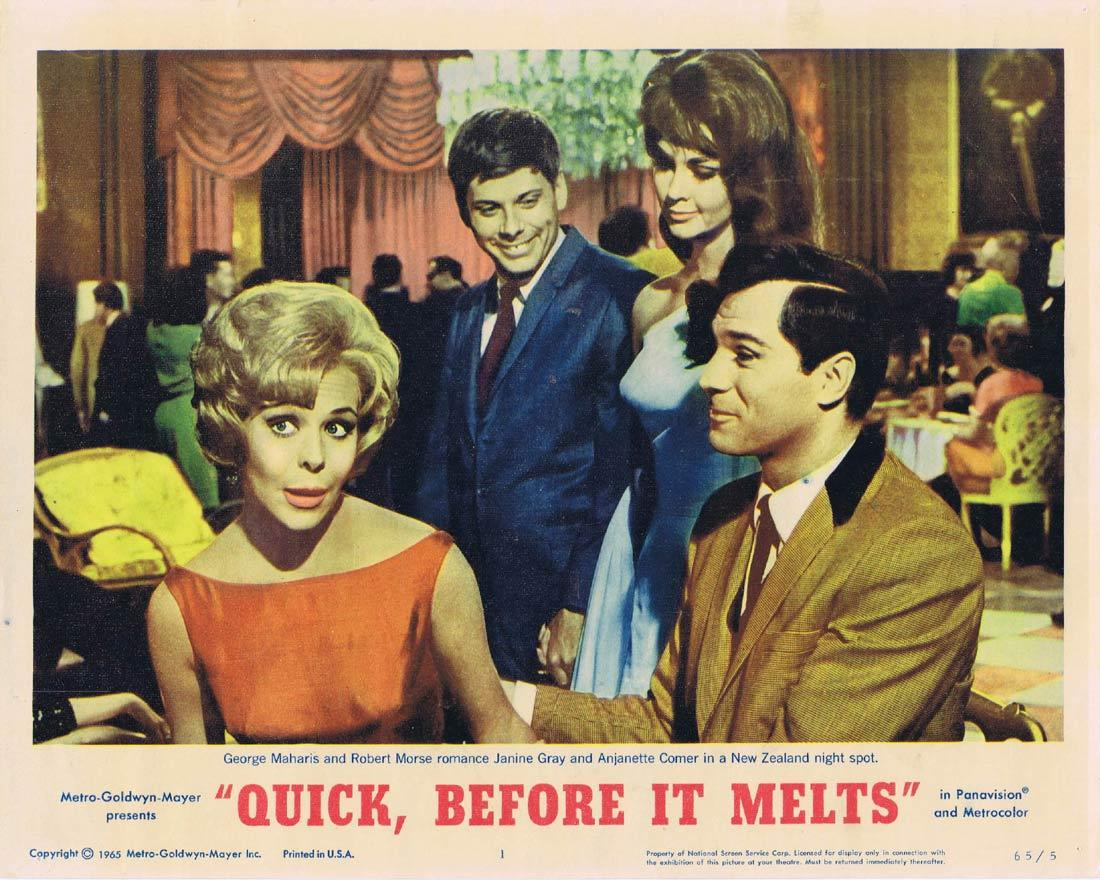 QUICK BEFORE IT MELTS Lobby Card 1 Robert Morse George Maharis Anjanette Comer