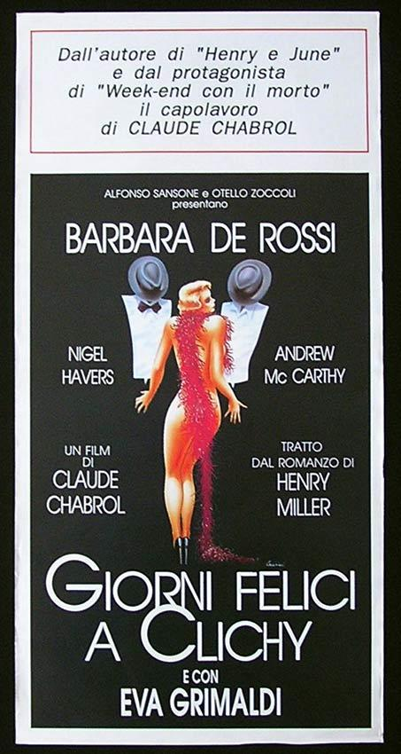 QUIET DAYS IN CLICHY Italian Locandina Movie Poster Claude Chabrol