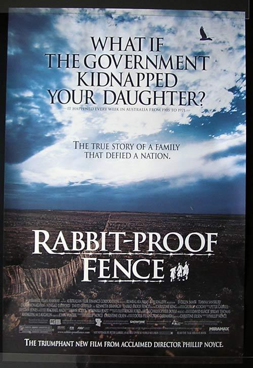 RABBIT PROOF FENCE Movie Poster 2002 Phillip Noyce ORIGINAL US 1sht