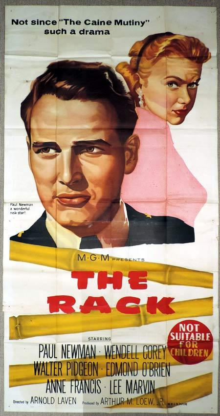 THE RACK Original 3 Sheet Movie Poster Paul Newman