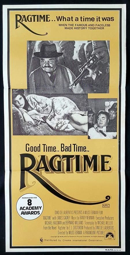 "RAGTIME Original Daybill Movie Poster James Cagney ""B"""
