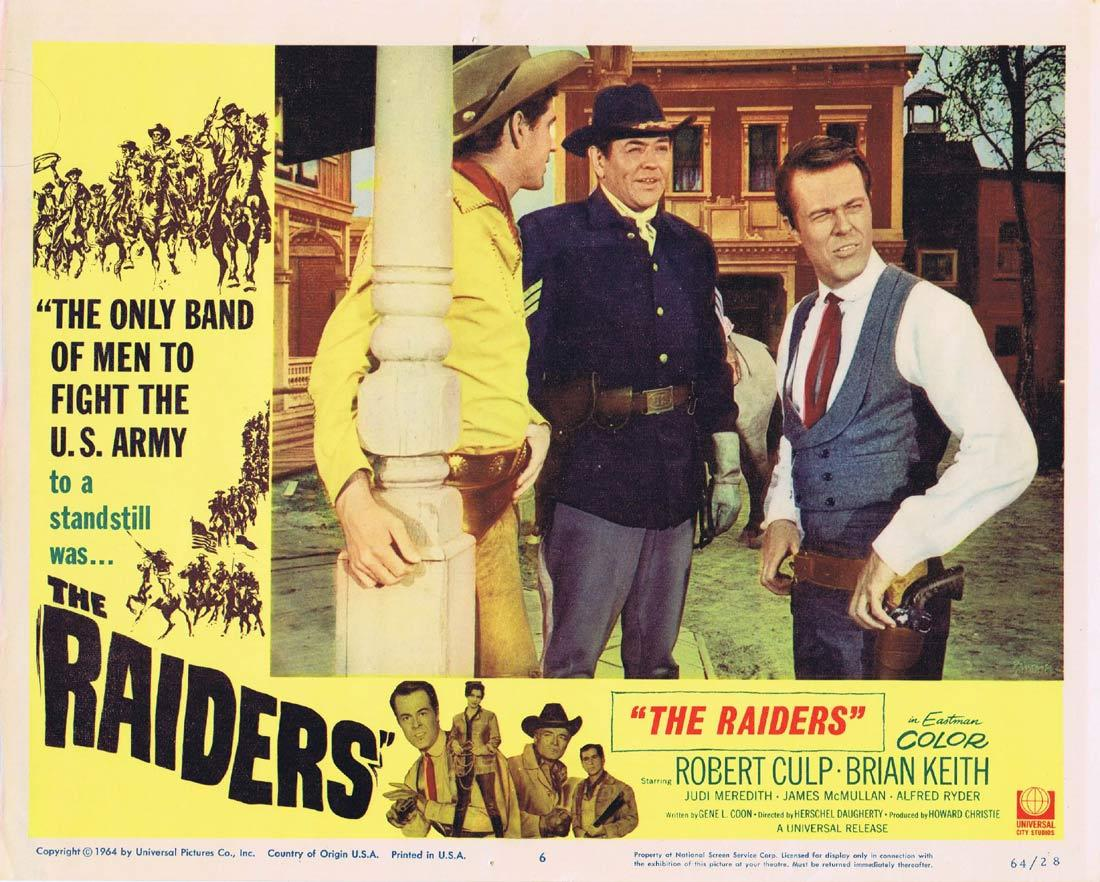 THE RAIDERS Lobby Card 6 Brian Keith Robert Culp Judi Meredith