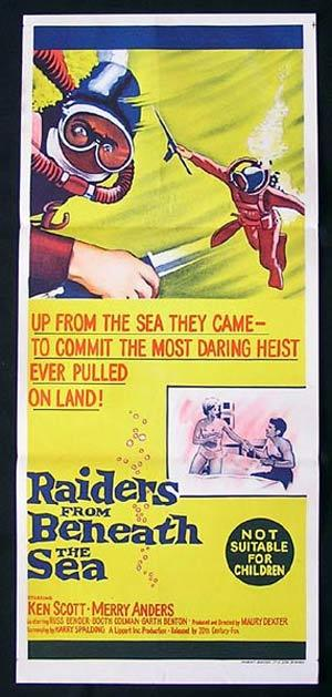 RAIDERS FROM BENEATH THE SEA '64-Skin Diving poster