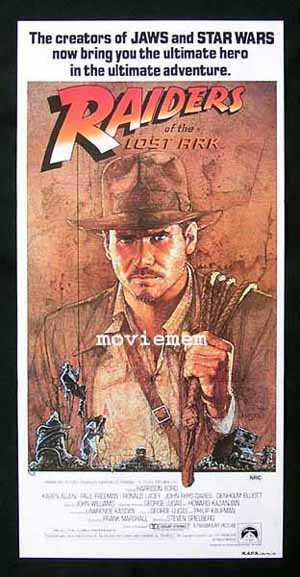 RAIDERS OF THE LOST ARK Daybill Movie Poster 1981 Harrison Ford