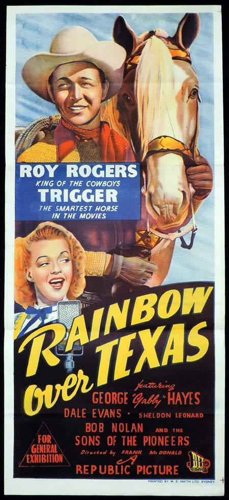 RAINBOW OVER TEXAS Original Daybill Movie Poster Roy Rogers