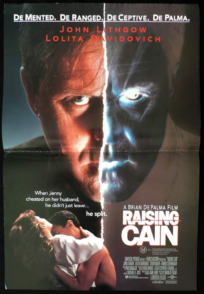 RAISING CAIN Original Daybill Movie Poster John Lithgow  Brian DePalma
