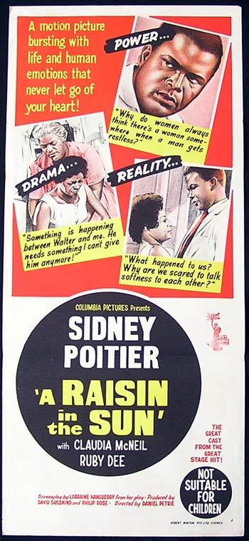 A RAISIN IN THE SUN 1961 Sidney Poitier RARE Daybill Movie Poster