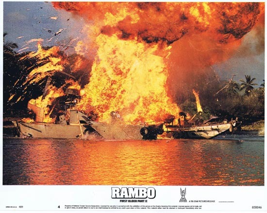 RAMBO FIRST BLOOD II US Lobby card 4 Sylvester Stallone