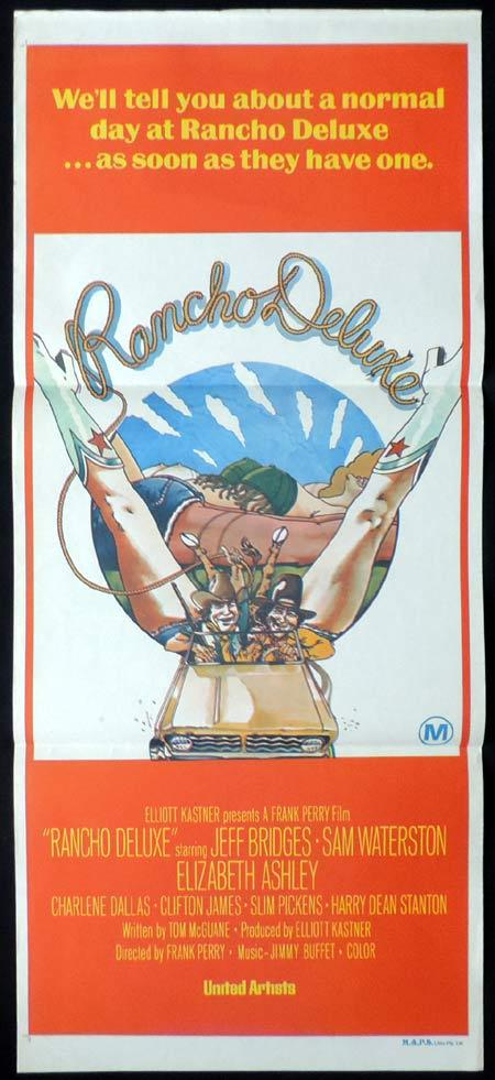 RANCHO DELUXE Original Daybill Movie Poster JEFF BRIDGES Sam Waterston