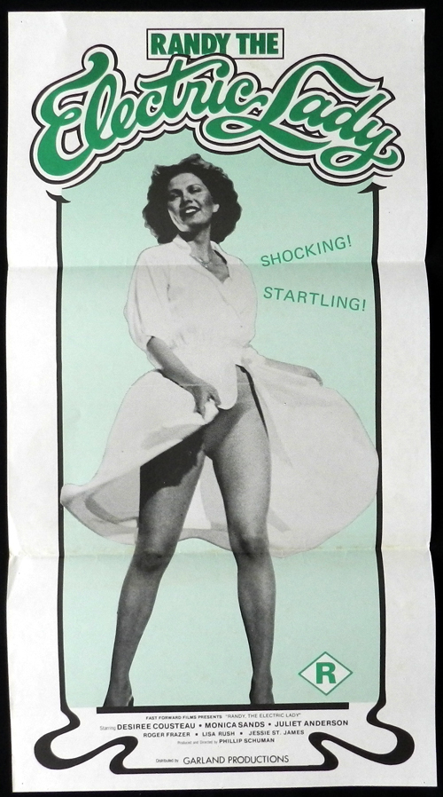 RANDY THE ELECTRIC LADY 1980 Desiree Cousteau Vintage Australian daybill poster