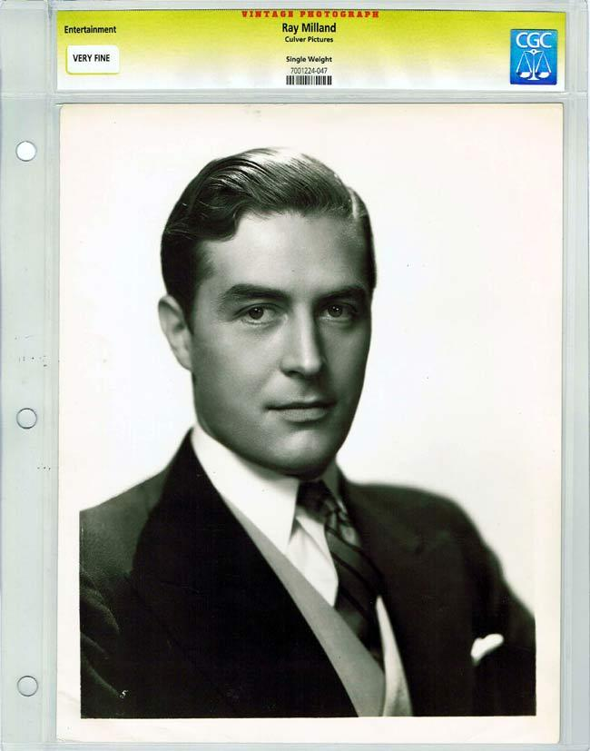 RAY MILLAND 1938 Vintage Movie Still CGC Graded