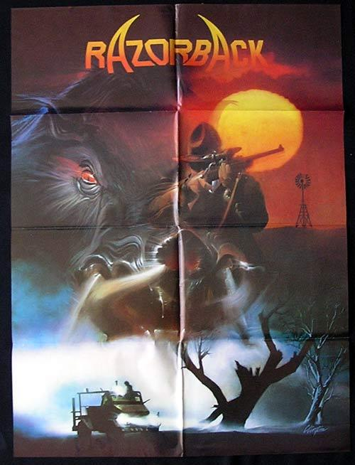 RAZORBACK Movie Poster 1984 Russell Mulcahy ADVANCE One sheet Movie Poster