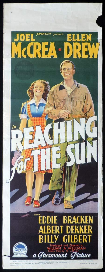 REACHING FOR THE SUN Long Daybill Movie poster Joel McCrea Ellen Drew