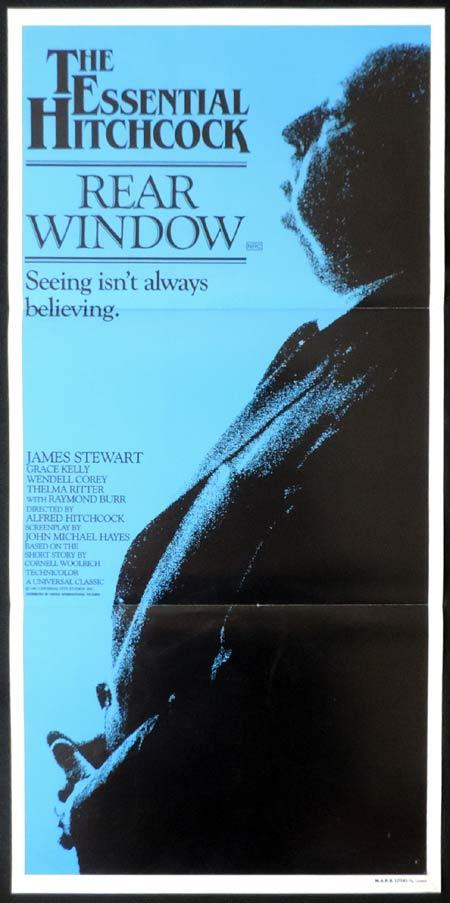 REAR WINDOW Daybill Movie poster 1983r Alfred Hitchcock James Stewart