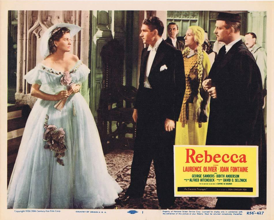 REBECCA Lobby card 1 1956r Alfred Hitchcock Olivier Fontaine