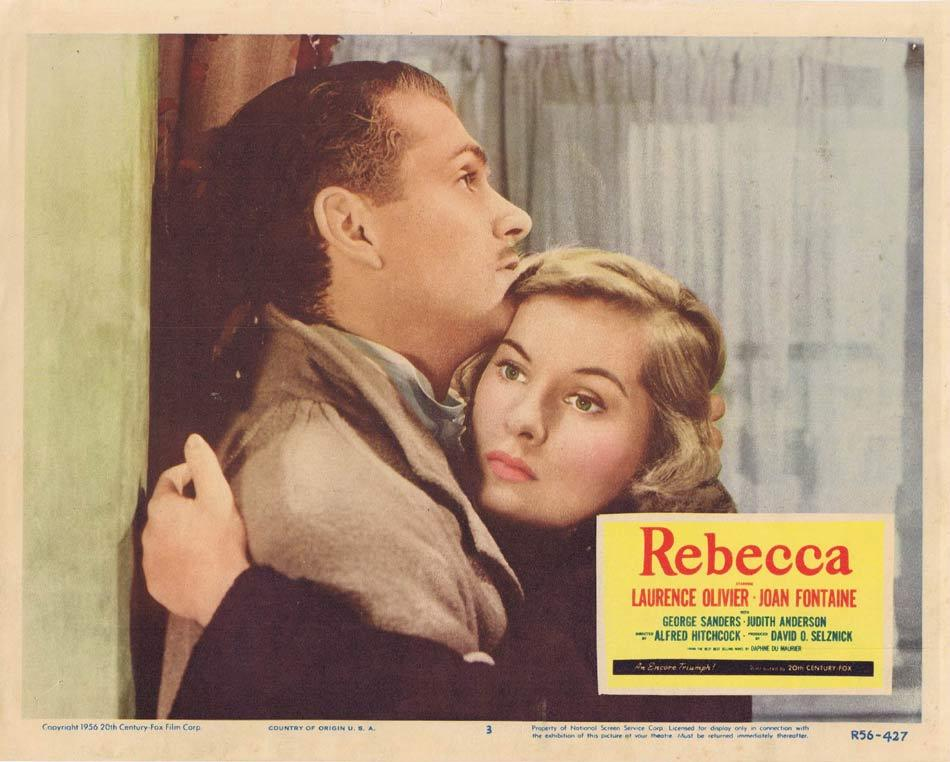 REBECCA Lobby card 3 1956r Alfred Hitchcock Olivier Fontaine